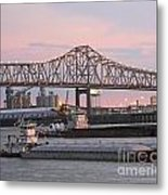 Louisiana Baton Rouge River Commerce Metal Print