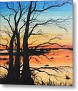 Louisiana Lacassine Nwr Treescape Metal Print