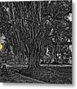 Louisiana Moon Rising Monochrome 2 Metal Print