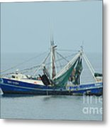 Louisiana Shrimp Trawler Metal Print by Bradford Martin