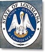 Louisiana State Seal Metal Print