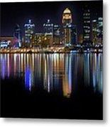 Louisville Kentucky Skyline Metal Print