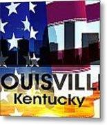 Louisville Ky Patriotic Large Cityscape Metal Print