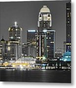 Louisville Lights Up Metal Print