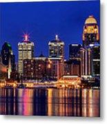 Louisville Skyline At Dusk Metal Print