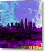 Louisville Watercolor Skyline Metal Print