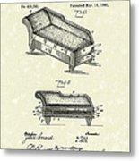 Lounge 1890 Patent Art Metal Print by Prior Art Design