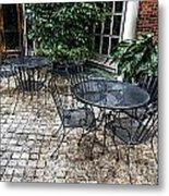 Lounging On The Patio Metal Print