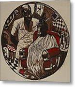 Lou's Barbershop Metal Print