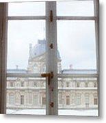 Louvre Museum Viewed Through A Window Metal Print