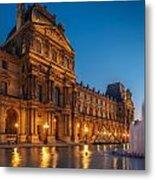 Louvre Sunset Metal Print