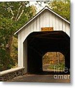 Loux Bridge And Sharp Left - Bucks County  Metal Print by Anna Lisa Yoder