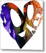 Love 1 - Heart Hearts Romantic Art Metal Print