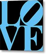 Love 20130707 Blue Black Metal Print