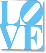 Love 20130707 Blue White Metal Print by Wingsdomain Art and Photography