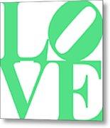 Love 20130707 Green White Metal Print