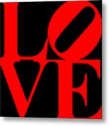 Love 20130707 Red Black Metal Print by Wingsdomain Art and Photography