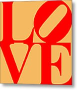 Love 20130707 Red Orange Metal Print by Wingsdomain Art and Photography