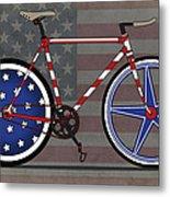 Love America Bike Metal Print by Andy Scullion
