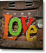 Love And A Ford Truck Metal Print