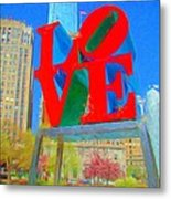 Love And Cherry Blossoms Metal Print