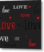Love And Hearts Metal Print