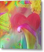 Love And Mayhem Metal Print