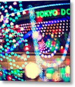 Love And Tokyo Dome With Colorful Psychedelic Heart Lights Metal Print