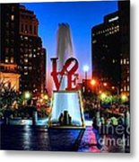 Love At Night Metal Print