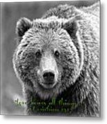 Love Bears All Things ... Metal Print
