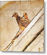 Love Birds On My Balcony Metal Print