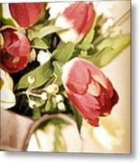 Love Blooms Here Metal Print