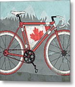 Love Canada Bike Metal Print by Andy Scullion