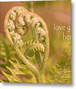 Love Grows Here Metal Print