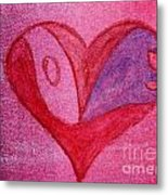 Love Heart 2 Metal Print