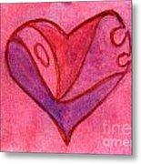Love Heart 6 Metal Print