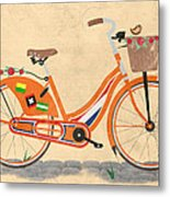 Love Holland Love Bike Metal Print by Andy Scullion
