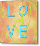 Love In Bright Blue Metal Print