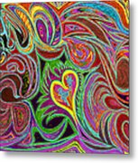 love in every shade of U v7 - love in every shade of blue Metal Print by Kenneth James