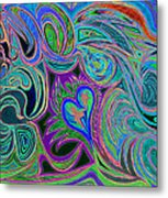 love in every shade of U v9     love in every shade of blue  Metal Print by Kenneth James
