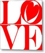 Love In Red Metal Print