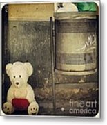 Love In The Trash Metal Print