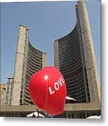 love in Toronto City Hall Metal Print