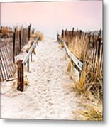 Love Is Everything - Footprints In The Sand Metal Print