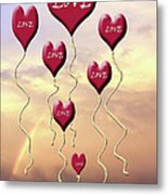 Love Is In The Air Sunshine Rainbow Metal Print by Cathy  Beharriell