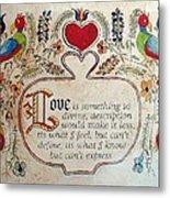 Love Is Metal Print