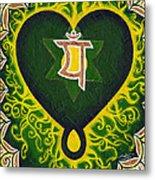 Love Is Spiritual Heart Chakra Metal Print
