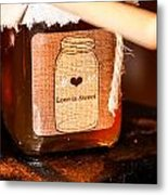 Love Is Sweet Metal Print by Hannah Miller