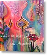 Love Is The Beauty Metal Print by Robin Mead
