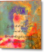 Love Is The Religion Metal Print